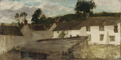 Painting: Green and Silver: The Devonshire Cottages